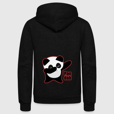 White Dabbing Panda pandab animal gift black white dab cute panda - Unisex Fleece Zip Hoodie