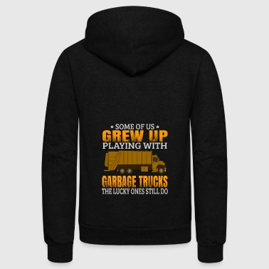 Garbage Garbage Truck T Shirt Garbage Man - Unisex Fleece Zip Hoodie