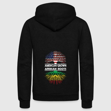 American Grown With African Roots T-Shirt - Unisex Fleece Zip Hoodie