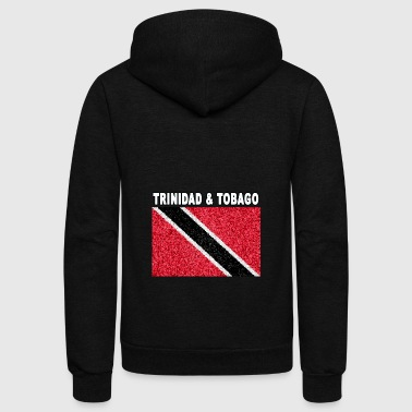trinidad and tobago flag stained glass - Unisex Fleece Zip Hoodie