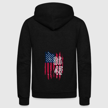 86 45 Anti Trump Shirt - Unisex Fleece Zip Hoodie