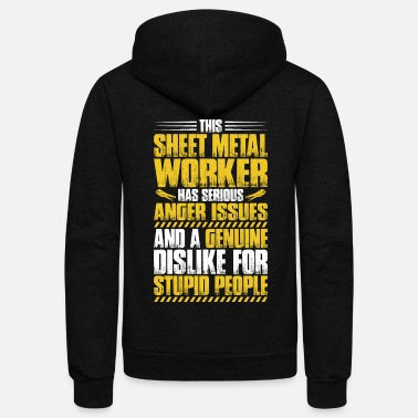 Worker Sheet Metal Worker Metal Work Gift Present - Unisex Fleece Zip Hoodie