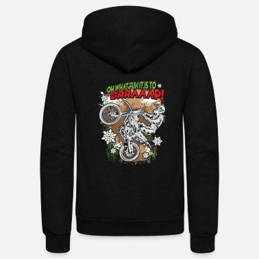 Motocross Ugly Motocross Christmas - Unisex Fleece Zip Hoodie