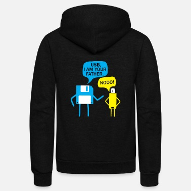 Usb Nerd diskette is the fahter of usb stick gift - Unisex Fleece Zip Hoodie