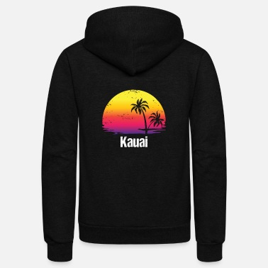 Kauai Summer Vacation Kauai Shirts - Unisex Fleece Zip Hoodie