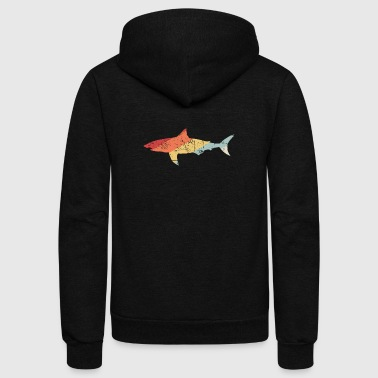 Vintage 70s Great White Shark - Unisex Fleece Zip Hoodie