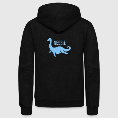 Nessie, The Loch Ness Monster - Unisex Fleece Zip Hoodie