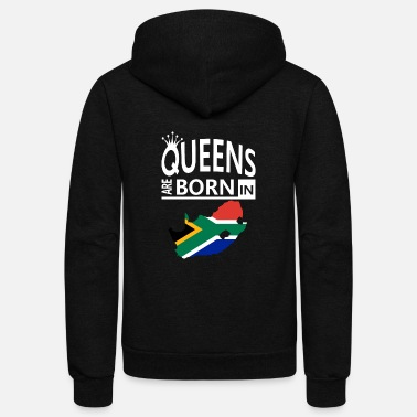 South Africa Queens are born South Africa Pride Woman Birthday - Unisex Fleece Zip Hoodie