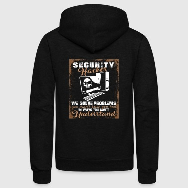 Hacker Security Hacker We Solve Problems T shirt - Unisex Fleece Zip Hoodie