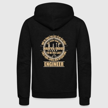 This Girls Loves Her Operating Engineer T Shirt - Unisex Fleece Zip Hoodie