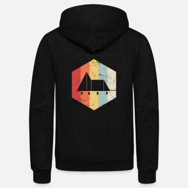 Synthesizer Retro 70s Synthesizer ADSR Envelope - Unisex Fleece Zip Hoodie