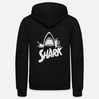 Jaws Shark jaw - Unisex Fleece Zip Hoodie