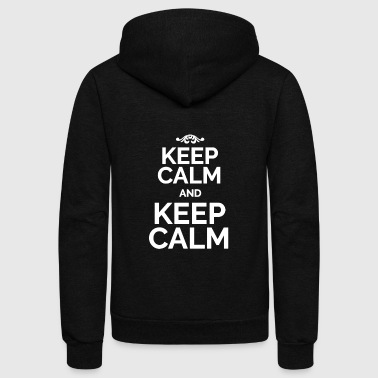 Keep Calm Keep Calm and Keep Calm white - Unisex Fleece Zip Hoodie