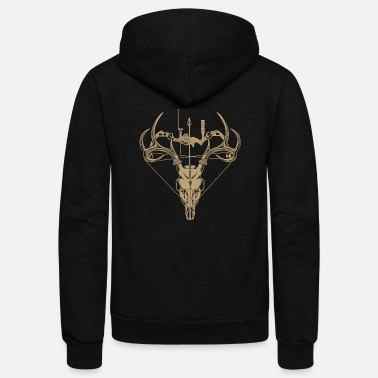 Evil Dead Deer Cute Funny Cartoon Goth Spooky Hum T-shirt for deer hunter - Unisex Fleece Zip Hoodie