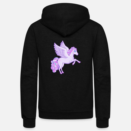 Greek Hoodies & Sweatshirts - Magical Pegasus Shirt - Unisex Fleece Zip Hoodie black