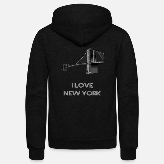 York Hoodies & Sweatshirts - I love New York Design - Unisex Fleece Zip Hoodie black