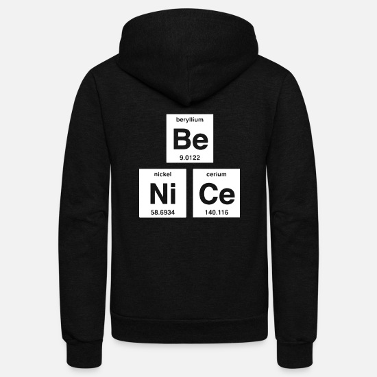 Awesome Hoodies & Sweatshirts - Be Nice - Unisex Fleece Zip Hoodie black