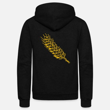 Wheat wheat - Unisex Fleece Zip Hoodie