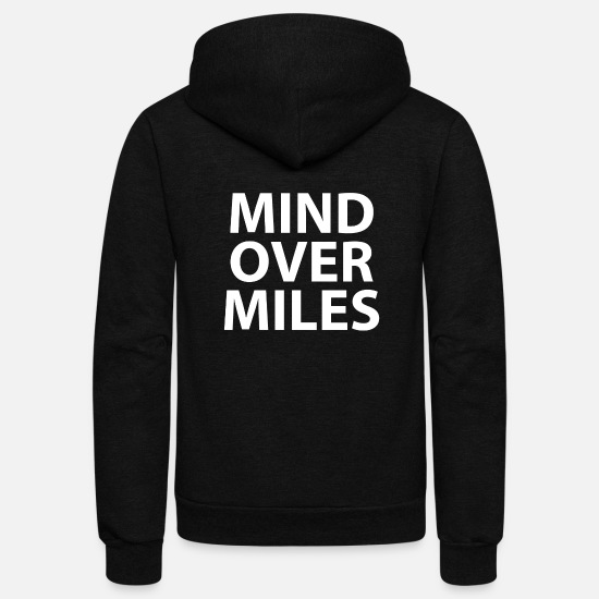 Running Hoodies & Sweatshirts - Mind Over Miles - Funny Running t-shirt - Unisex Fleece Zip Hoodie black