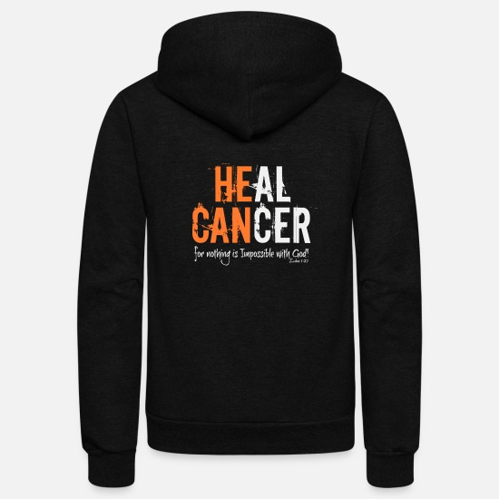 Support Hoodies & Sweatshirts - HE CAN - Unisex Fleece Zip Hoodie black