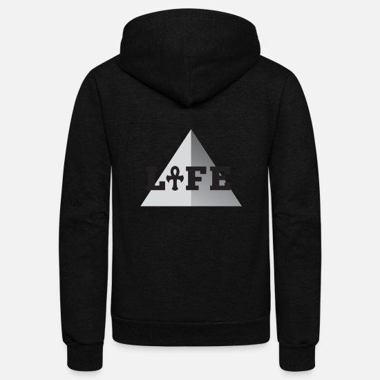 Symbol  Hoodies & Sweatshirts - Bold Life - Unisex Fleece Zip Hoodie black