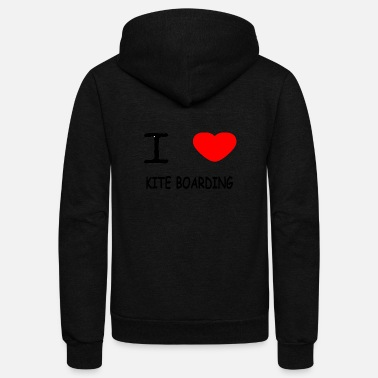 Kite Boarding I LOVE KITE BOARDING - Unisex Fleece Zip Hoodie