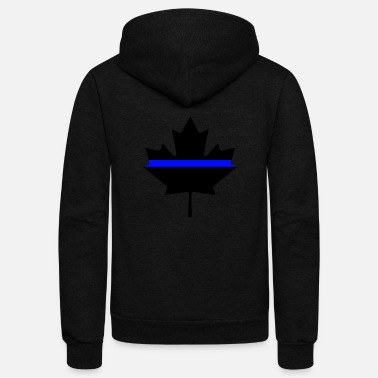 Canada Canada Thin Blue Line - Unisex Fleece Zip Hoodie