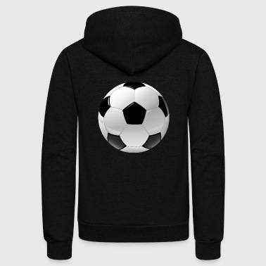 football realistic ball sport - Unisex Fleece Zip Hoodie