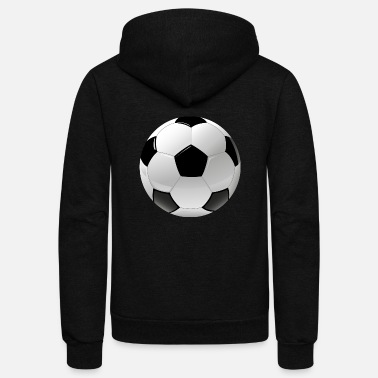 Ball Sport football realistic ball sport - Unisex Fleece Zip Hoodie