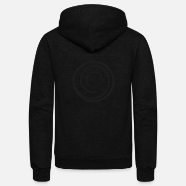 Circle Circle circle - Unisex Fleece Zip Hoodie