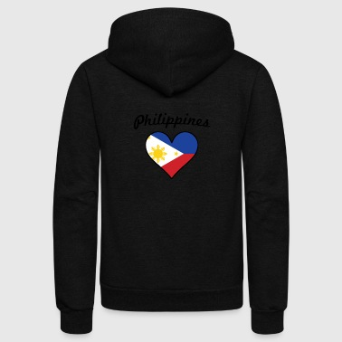 Philippines Flag Heart - Unisex Fleece Zip Hoodie