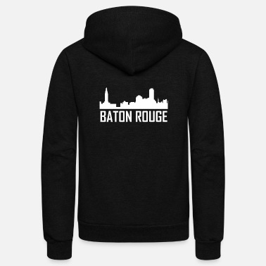 Baton Rouge Baton Rouge Louisiana City Skyline - Unisex Fleece Zip Hoodie