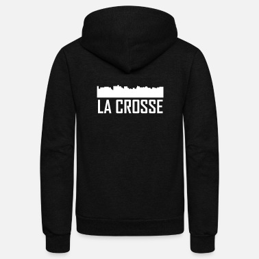 La Crosse La Crosse Wisconsin City Skyline - Unisex Fleece Zip Hoodie