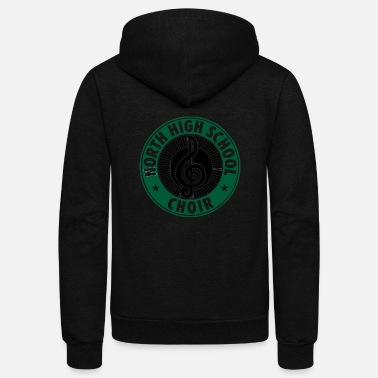 Choir NORTH HIGH SCHOOL CHOIR - Unisex Fleece Zip Hoodie