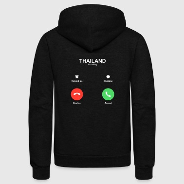 thailand call Accept Decline - Unisex Fleece Zip Hoodie