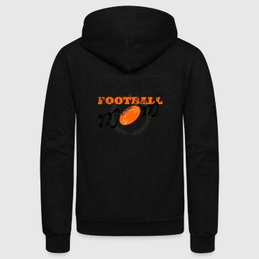 Football mom, American football - Unisex Fleece Zip Hoodie