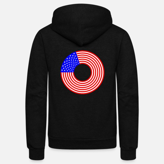 Stars Hoodies & Sweatshirts - Stars And Stripes - Unisex Fleece Zip Hoodie black
