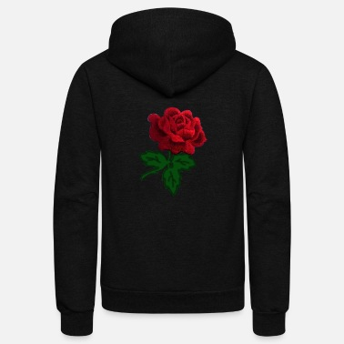 Rose red rose - Unisex Fleece Zip Hoodie