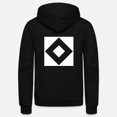 Abstract Abstract art with design forms 2 - Unisex Fleece Zip Hoodie