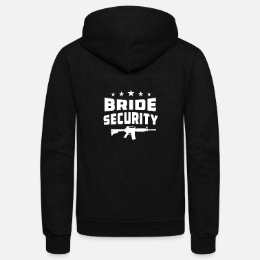 Bachelor Bride Security - Unisex Fleece Zip Hoodie