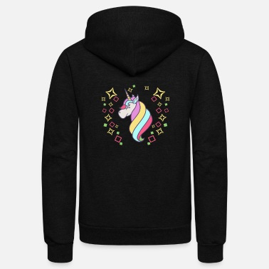 Flashy colorful unicorn flashy trendy gift idea - Unisex Fleece Zip Hoodie