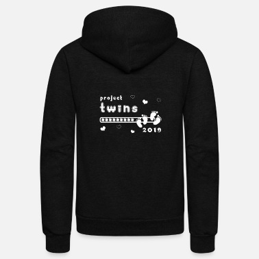 Brothers project twins pregnant family child gift - Unisex Fleece Zip Hoodie