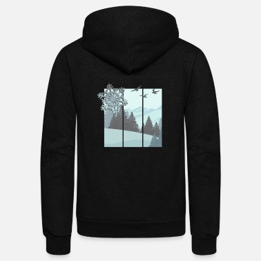 Winter winter - Unisex Fleece Zip Hoodie