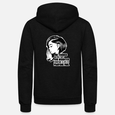 Afro Afro Woman Black Hair Style Natural Confident - Unisex Fleece Zip Hoodie