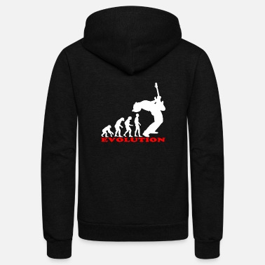 Bass Player bass player bass evolution - Unisex Fleece Zip Hoodie
