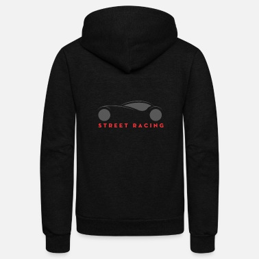 Street Surfer Street Racing - Unisex Fleece Zip Hoodie