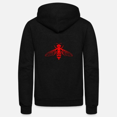Fly-insect Fly Insects - Unisex Fleece Zip Hoodie