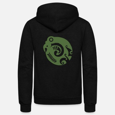 Tribal Maori Koropepe Tribal Symbol New Beginn Gift Idea - Unisex Fleece Zip Hoodie