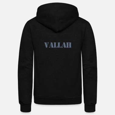 Turkish Funny Vallah turkish - Unisex Fleece Zip Hoodie