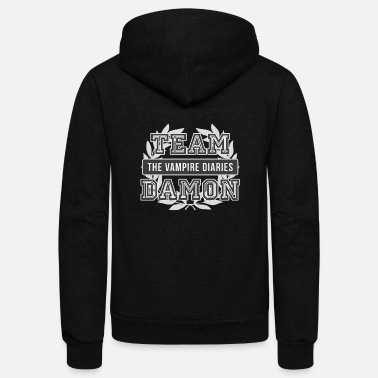 Vampire Team Damon - Unisex Fleece Zip Hoodie